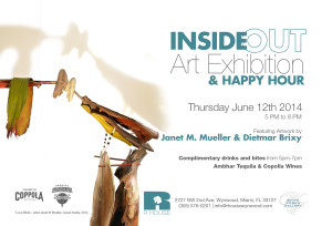 Please join us for Inside-Out…the fun new art installation and happy hour at the White Porch Gallery @ R House!