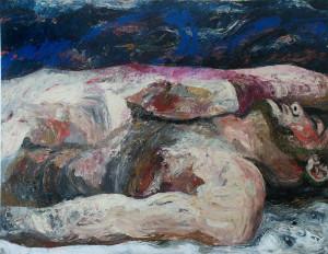 Sleeping. Acrylic on Canvas. 36 x 48