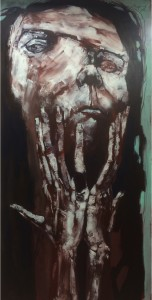 "Massot_""Voces de Abandono""_""Untitled #3""_Acrylic on Canvas_70x35.5"